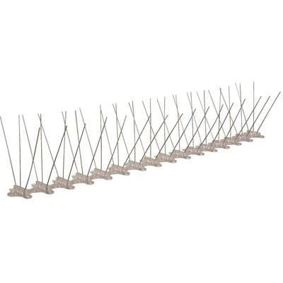 "Stainless Steel Bird Spikes, 10'L x 5""W"