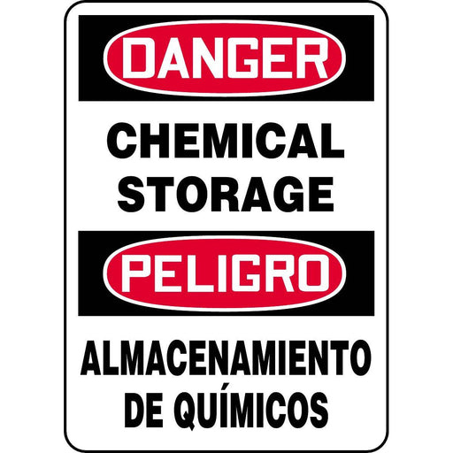 Bilingual Danger / Chemical Storage Sign