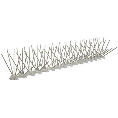 "Stainless Steel Bird Spikes, 50'L x 8""W"