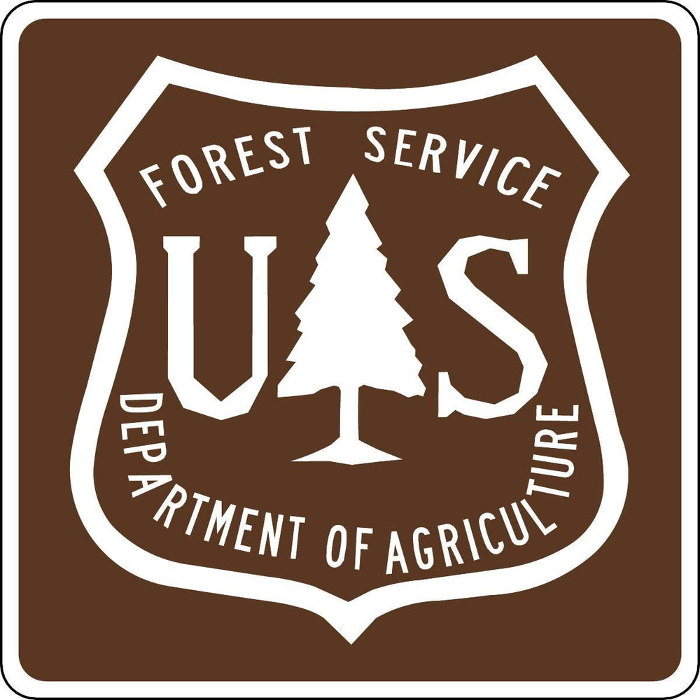 Forest Service Department Shield Outdoor Recreation Sign