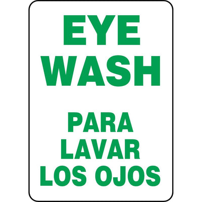 Bilingual Eye Wash Sign