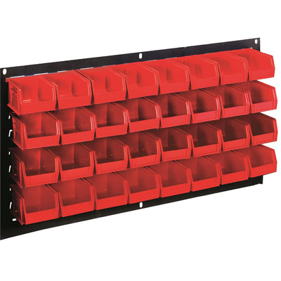 18-Bin Louvered Wall Panel Storage