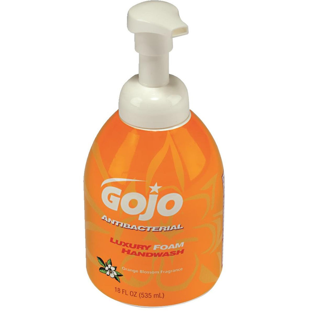 GOJO 18-oz. Pump Bottle of Luxury Foam Antibacterial Handwash (4/case)