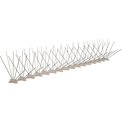 "Stainless Steel Bird Spikes, 10'L x 8""W"
