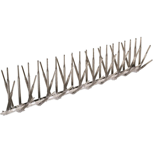 "Clear Polycarbonate Bird Spikes, 10'L x 5""W"