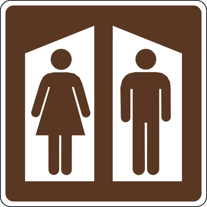 Restrooms Symbol Outdoor Recreation Sign