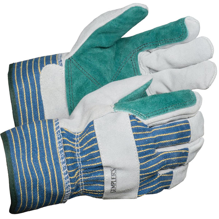 Double Palm Cowhide Leather Gloves, Pkg. of 6 Pair