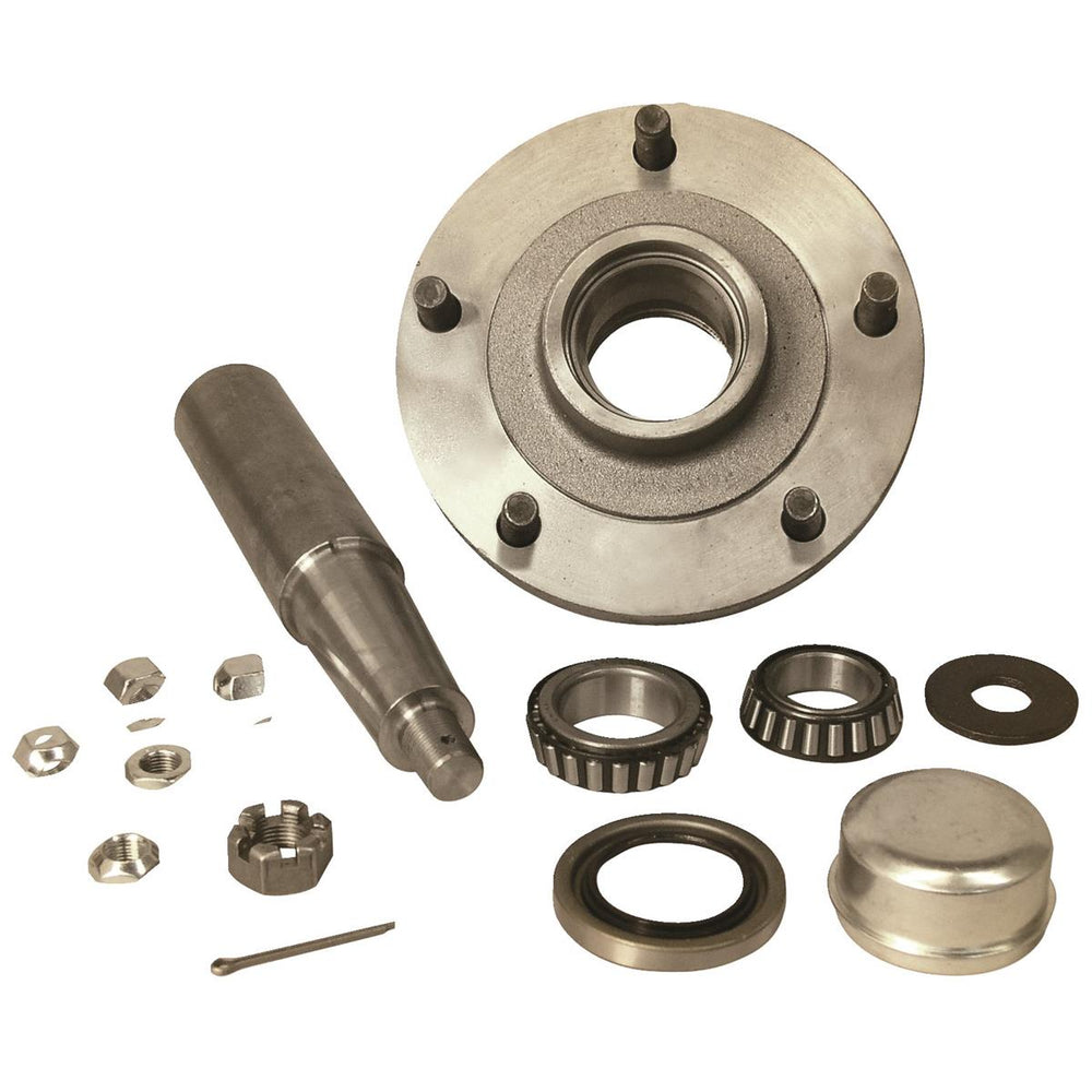 5-Hole Straight Spindle Stub Axle Assembly