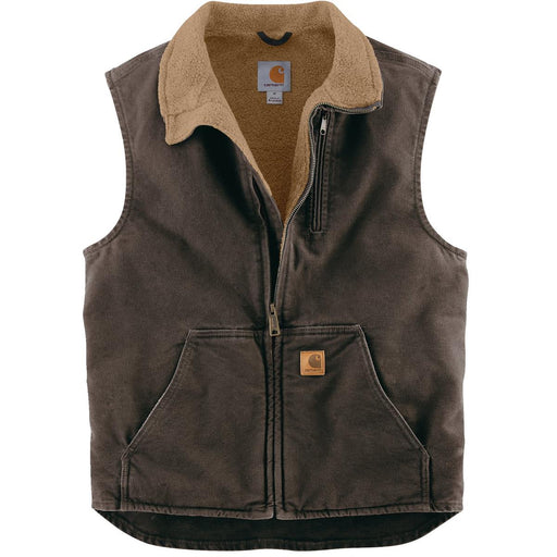 Mock-Neck Sherpa-Lined Vest
