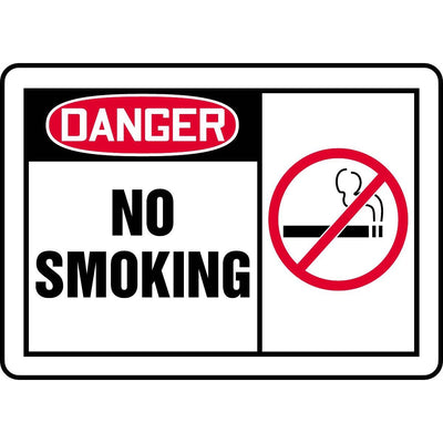 """Danger No Smoking"" Graphic Alert Sign"