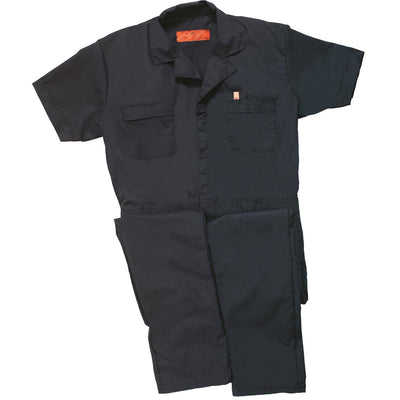 Short-sleeve Poplin Coveralls
