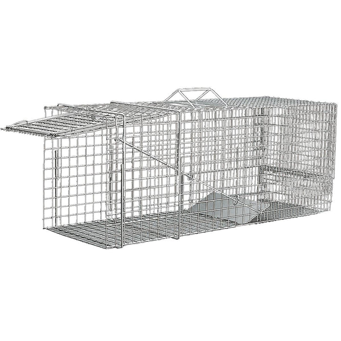 "Single-Door Trap, Live Trap for Raccoons and Woodchucks, 30""L x 11""W x 12""H"