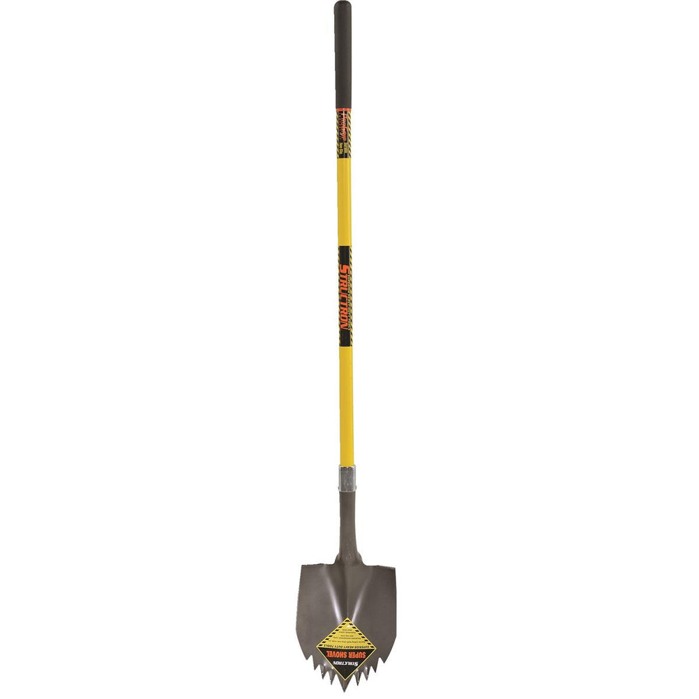Sawtooth Shovel w/Fiberglass Straight Handle