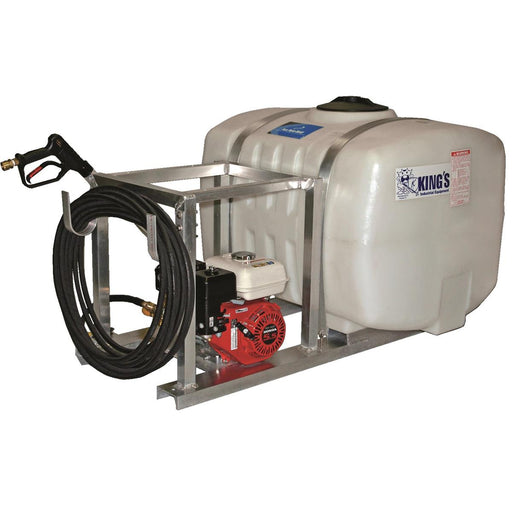 Skid-Mounted Pressure Washing Unit without Hose Reel, 100 gal.