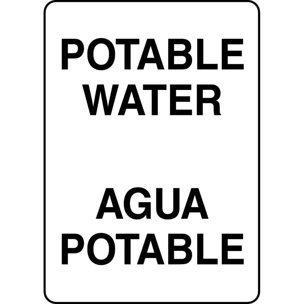 Bilingual Potable Water Sign