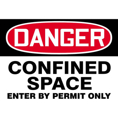 """Danger - Confined Space"" Warning Sign"