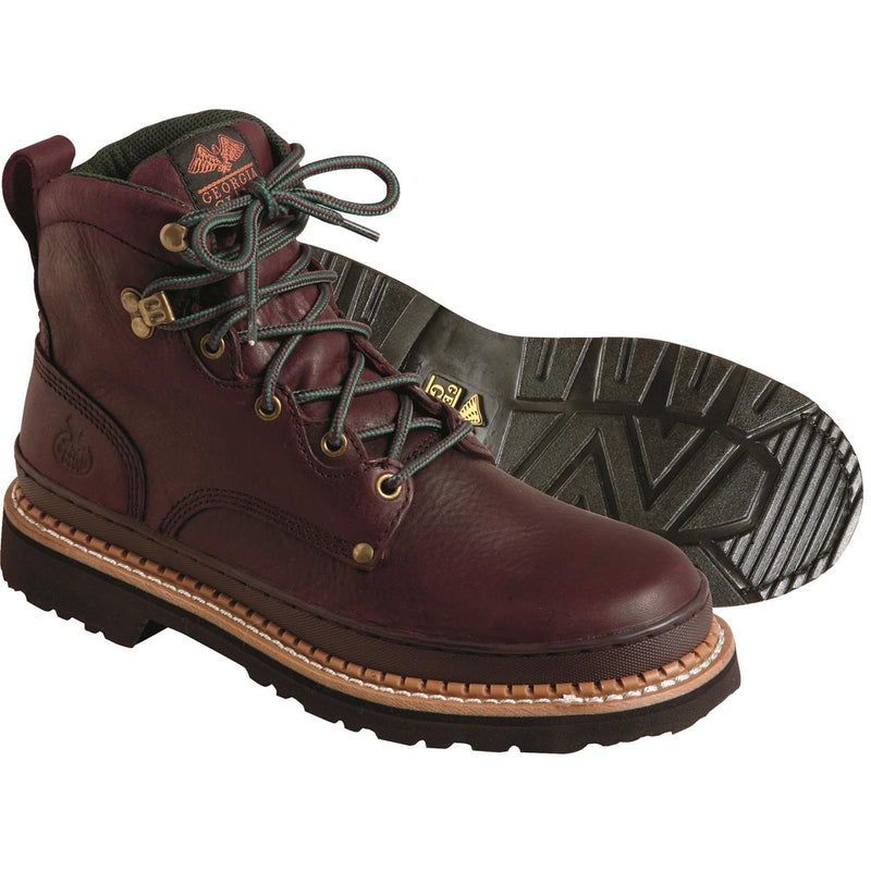 "Georgia Boot 6""H Steel Toe Work Boots"