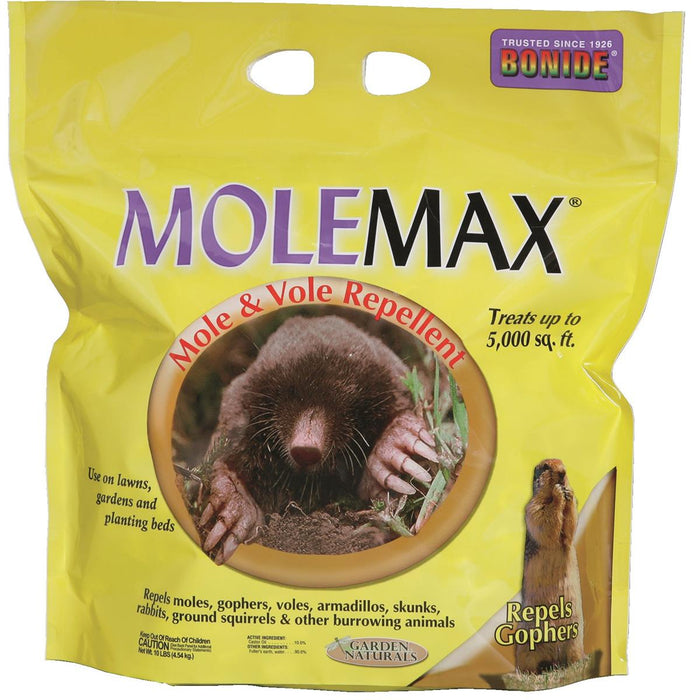 Molemax Mole and Vole Repellent, 10-lb. Bulk Bag
