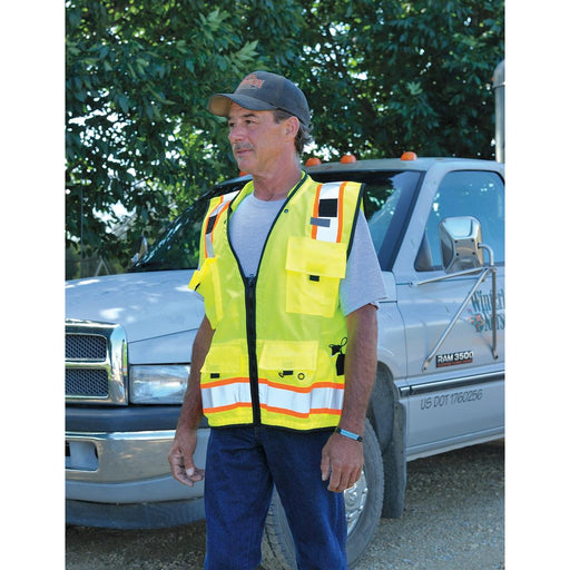 ML Kishigo ANSI Class 2 Hi-Vis Surveyor's Vest