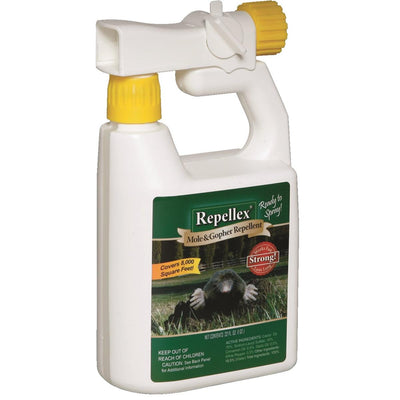 Repellex Mole and Gopher Repellent, 32.-oz. Ready-to-Use Bottle