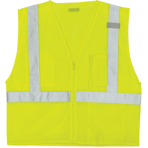 ML KISHIGO ANSI Class 2 Mesh Zip-Closure Safety Vest
