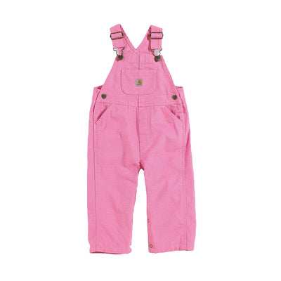 Carhartt Toddler Canvas Bib Overall, Rosebloom