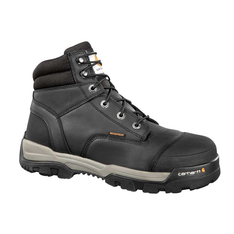 "Carhartt Ground Force 6""H Plain Toe Black Work Boot"