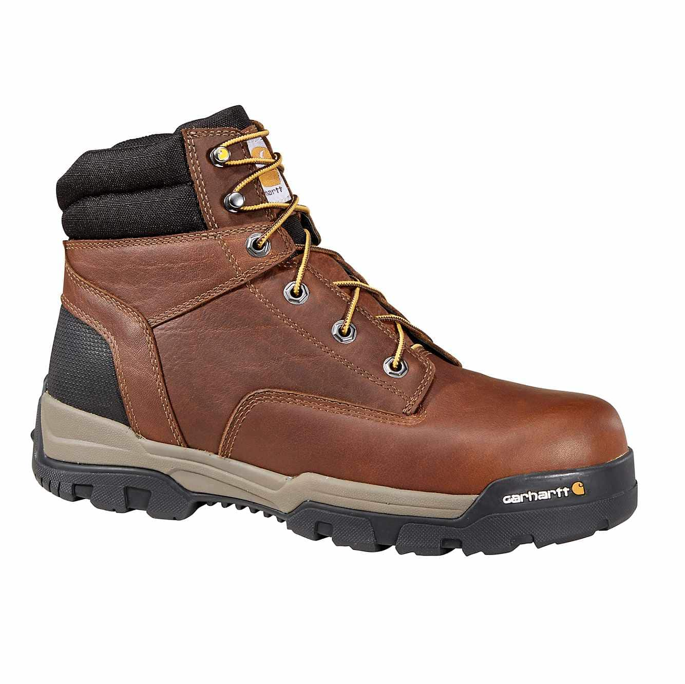 "Carhartt Ground Force 6""H Plain Toe Brown Work Boot"
