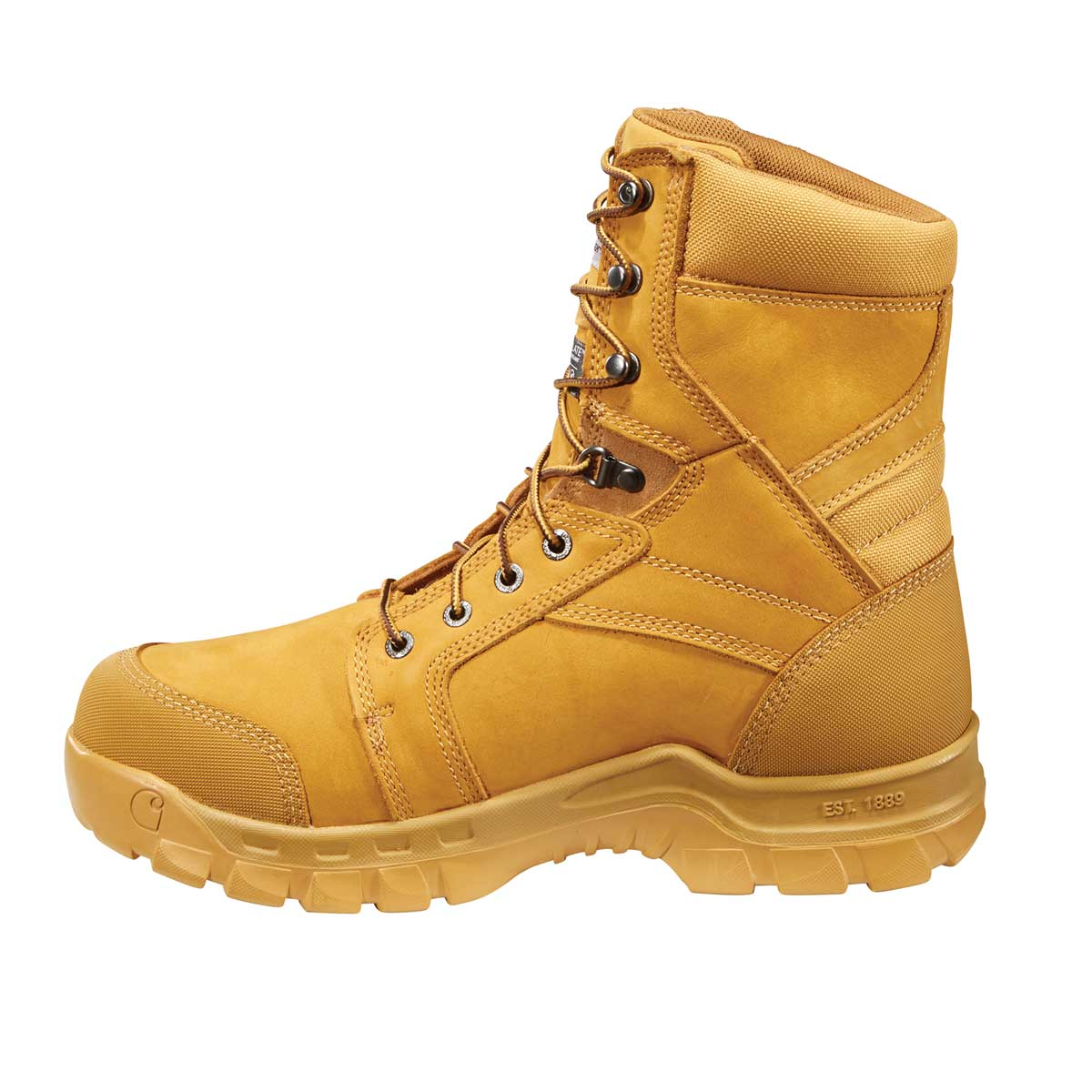 "Carhartt Rugged Flex 8"" Insulated Plain Toe Boot"