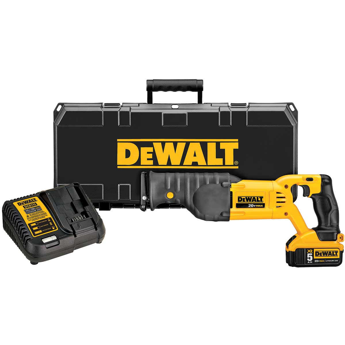 DEWALT 20V MAX Lithium Ion Reciprocating Saw Kit (5.0 Ah)