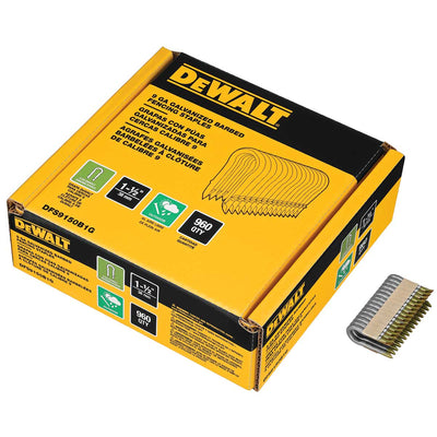 DEWALT 9 GA Galvanized Barbed Fencing Staples 1-1/2 IN 960 pk