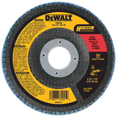 DeWalt 4-1/2 x 7/8 In. Z80 T29 Flap Disc