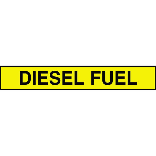 "Accuform ""Diesel Fuel"" Adhesive Tank and Pipe Label"