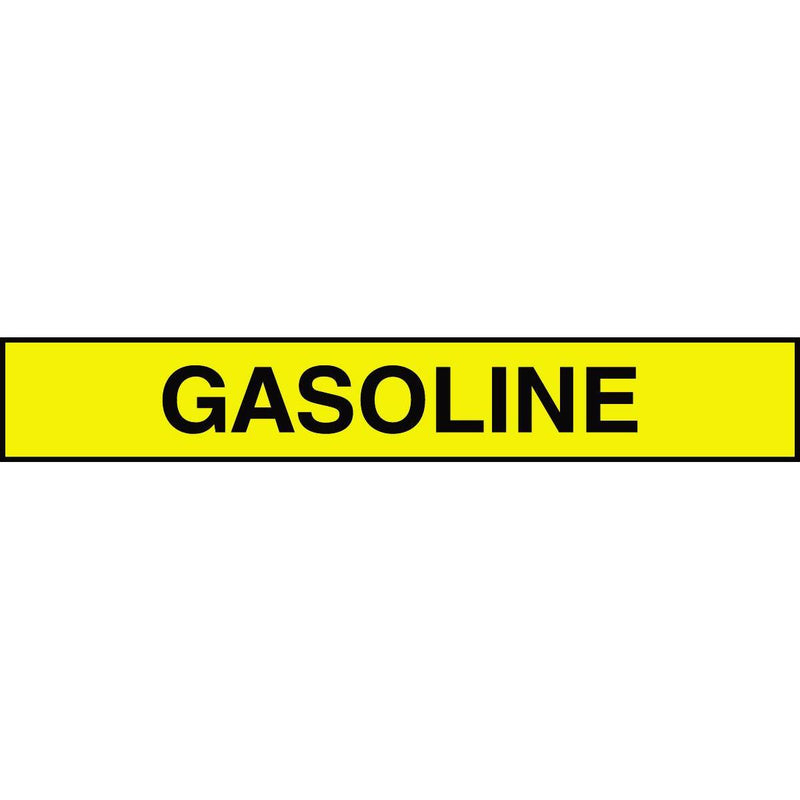 "Accuform ""Gasoline"" Adhesive Tank and Pipe Label"