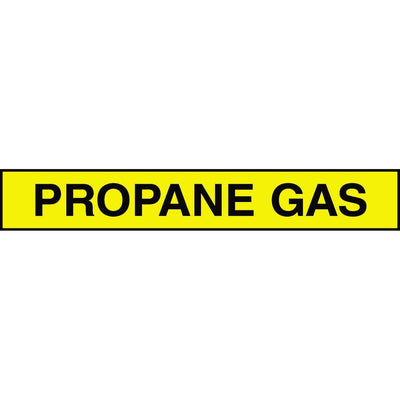 """Propane Gas"" Adhesive Tank & Pipe Label"