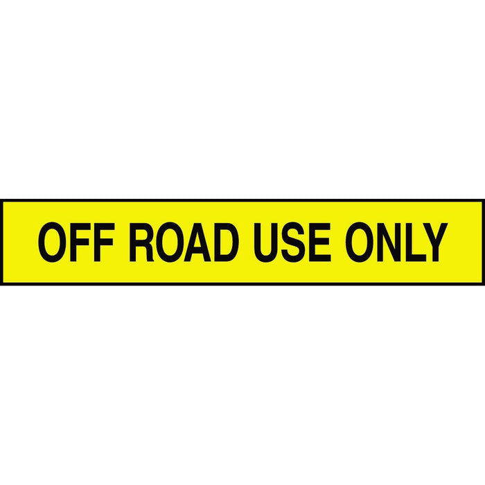 """Off Road Use Only"" Adhesive Tank & Pipe Label"