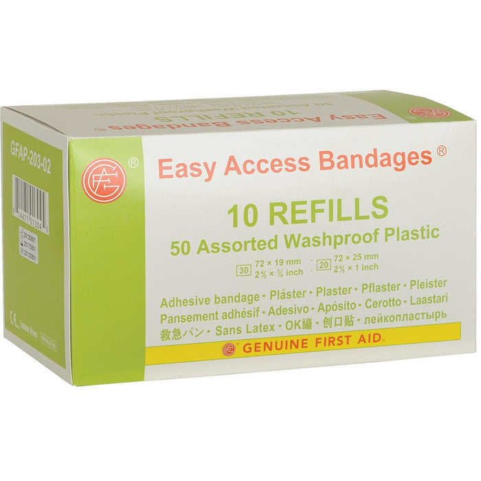 Easy Access Bandages® Assorted Waterproof Bandages