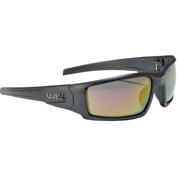Uvex Hypershock™ Safety Glasses, Black Frame