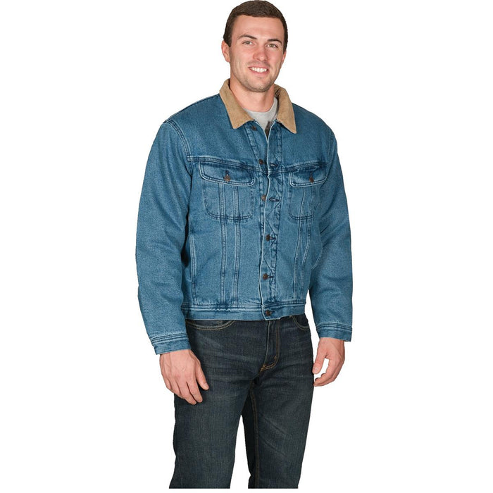Work King Sherpa-Lined Denim Jacket