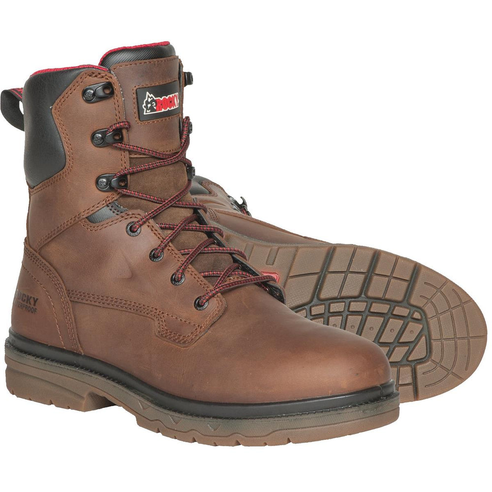 "Rocky Elements 8""H Waterproof Leather Work Boots"