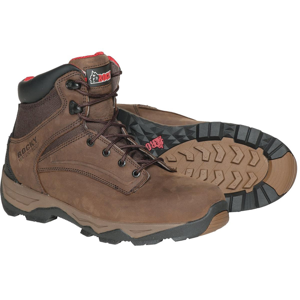 "Rocky Retraction Waterproof 6""H Leather Work Boots"