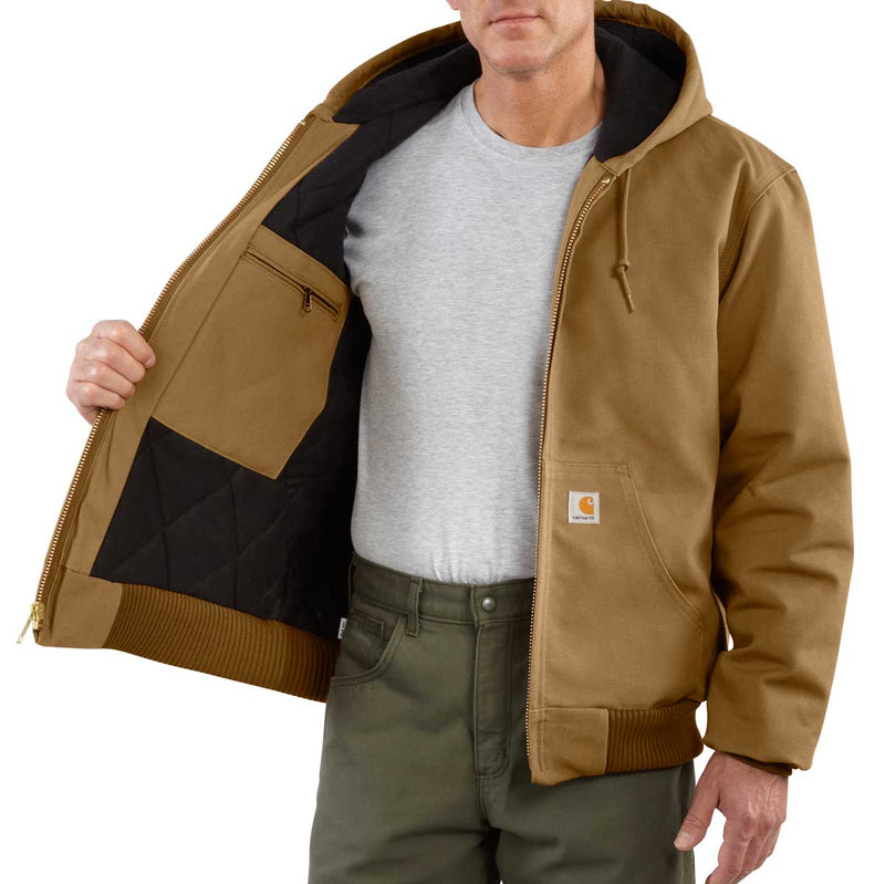 Carhartt J140 Firm Duck Quilted Flannel-Lined Active Jac