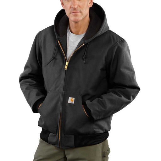 Carhartt J140 Firm Duck, Quilted Flannel-Lined Active Jac