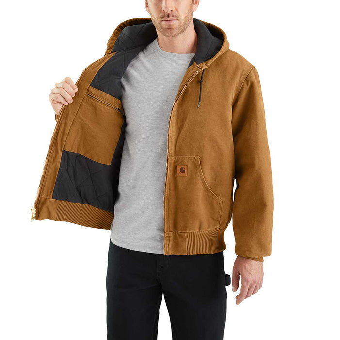 Carhartt J130 Sandstone Duck, Flannel-Lined Active Jac