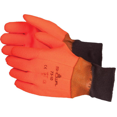 SHOWA BEST Best Fluorescent Orange, Insulated, PVC-Coated Gloves