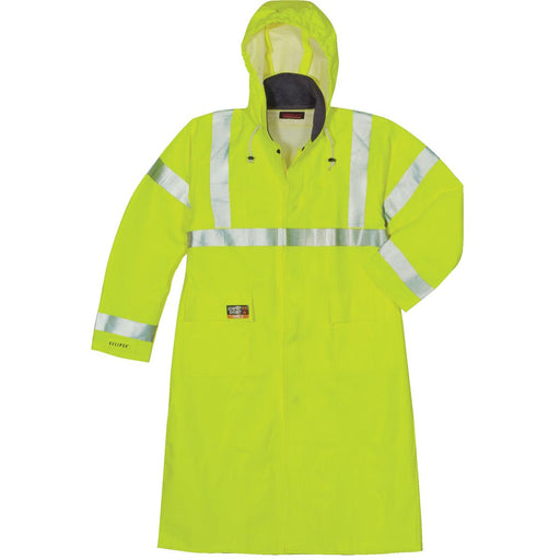 "Tingley Eclipse™ Hi-Vis Flame-Resistant 48""L Raincoat"