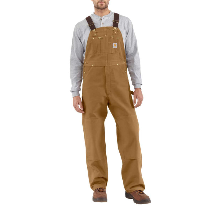 "Carhartt R01 Unlined Bib Overalls - Waist Sizes 40"" - 60"""