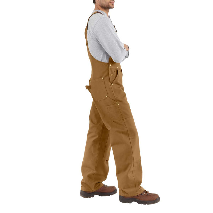 "Carhartt R01 Unlined Bib Overalls - Waist Sizes 28"" - 38"""
