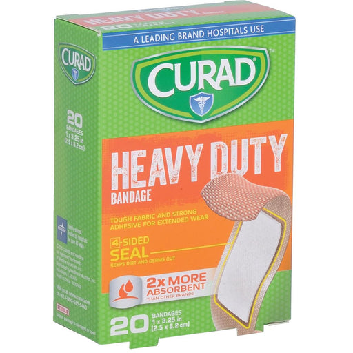 "Curad® Extreme Hold 1""W x 3 1/4""L Fabric Bandages"