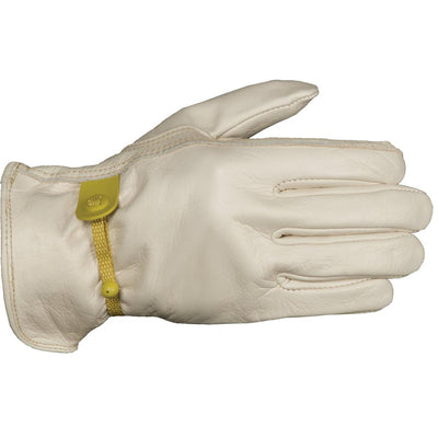 Women's Cowhide Leather Cinch Gloves